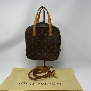 Louis Vuitton Spontini Handbag Monogram Canvas